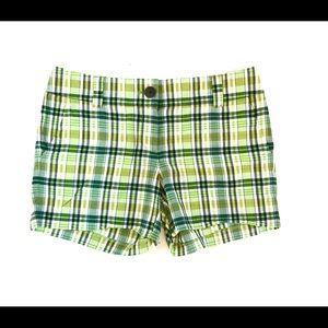 J. Crew Green Plaid Shorts